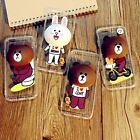 3D Cute Bear Brown Bunny Cony with KickStand Case Cover For iPhone 7& 7 Plus