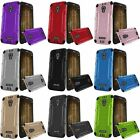 For Alcatel One Touch Allura / Fierce 4 / Pop 4 Hybrid Brushed Metal Case Cover