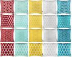 "MODERN GEOMETRIC CUSHION COVERS 100% COTTON PRINTED THROW PILLOW COVER 18"" x 18"""
