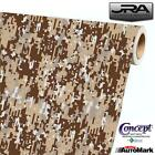 DESERT Digital Camouflage Vinyl Car Wrap Camo Film Decal Sheet Roll