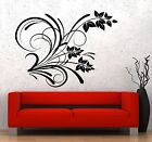 Vinyl Wall Decal Flower Pattern Floral Room Decoration Stickers (206ig)