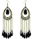 JC040 Wholesale Chandelier Earrings Sheer Water Drop Bead Chain U Pick Quantity
