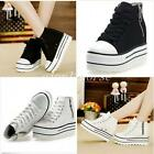 HOT Fashion Canvas Sneakers Womens Platform Lace Up High Top Casual Sports Shoes