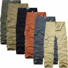 Combat Men's Cotton Cargo Trousers ARMY Pants Military Camouflage Camo Overalls