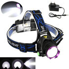 5000Lm XML T6 LED Headlamp Frontal Phare Lampe Velo EU 18650 Piles chargeur