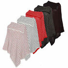 New Women Ladies Spotted Knitted Poncho 3 Button Wrap Warm Cape One Size 8-14
