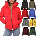 Women Ladies Quilted Padded Puffer Parka Jacket Fur Hooded Zip Front Bubble Coat