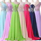 Sexy Beaded Formal Evening Wedding Bridesmaid Gowns Prom Formal Party Long Dress