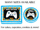 Video Game Arcade X box Edible Birthday Party Cake Cupcake Topper Decorations