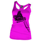 Cartel Ink Tattoo Machine Women's Cotton Pink Tank Top T-Shirt Sizes SM - 2XL