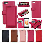Luxury Zipper Detachable PU Leather Card Wallet Case For iphone 6 6s 7 Samsung