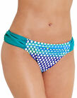 figleaves Womens Long Island Solid Ruched Bikini Brief