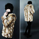 Men's Leopard Faux Fur Long Sleeve Jacket Fake Fun Fur Coat Overcoat Fashion New