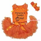1st thanksgiving outfits for baby - Thanksgiving Everyone is Thankful for me Orange Top Girl Baby Skirt Outfit 3-12M