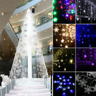 96LED Snowflake Icicle Tree Hanging Curtain Lights Outdoor Xmas Wedding Lamp LU
