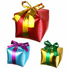 """12"""" GIFT BOX WITH RIBBON FOIL BALLOON PARTY KIDS BIRTHDY DECOR - Gold/Red /Blue"""