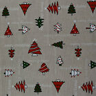 "Chrsitmas Xmas Cotton Linen Fabric for Curtain & Upholstery 54"" Wide"