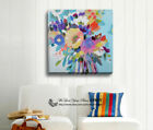 Flowers Abstract Stretched Canvas Print Framed Wall Art Painting Decor Gift Deco