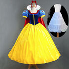 Snow White Fairytale Fancy Dress Cosplay Costume Storybook Princess Deluxe Lady