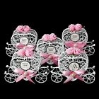 5Pcs Cinderella Carriage Chocolate Candy Boxes Birthday Wedding Party Favour New