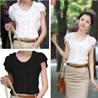 Fashion Women Office Lady OL Career Slim Shirt Blouse Top Casual Christmas Gift