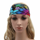 New Women's Sports Yoga Headband Stretch Hairband Elastic Hair Band Boho Turban