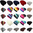 Colorful Slouch Beanie Knit Cap Baggy Oversize skull Stripe Winter Outdoor Hat