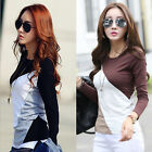 Women's Ladies Slim Long Sleeve O-Neck Loose Blouse Casual Tops T-Shirt Blouse