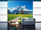 3D Grassland Hill snow green Wall Paper Print Decal Wall Deco Indoor wall Mural