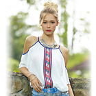 Sexy Lady Women Girls Chiffon Casual Loose T-Shirt Tops Blouse Plus size Clothes
