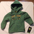 John Deere 12 18 24 Month or 2T Choice Zip Front Fleece Hooded Sweatshirt Jacket