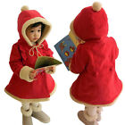 Toddler Baby Girls Winter Warm Outerwear Cotton Hooded Coat Jacket Outfits 6M-5Y