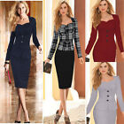 women's Elegant sexy peplum office Casual Pencil work wear Cocktail party dress