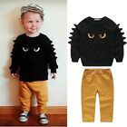 2pcs Monster Toddler Baby Boy Outfit Long Sleeve t-Shirt Top+Pant Clothing Set
