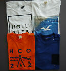 Wholesale Lot of 4 New Hollister Mens Short Sleeve Muscle Fit T-Shirt :X- Large