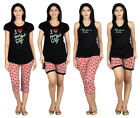 Imported Printed Cotton Hosiery Fabric  4 Set Of Night Wear For Women 3456