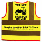 Baby/Chilren/Kids Hi Vis Safety Jacket/Vest Trainee Tractor Driver Size 0-8Years