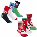 Boys Girls 6 Pairs Christmas Novelty Socks Kids Funny Xmas Socks Gift Idea