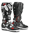 SIDI CROSSFIRE SRS OFF ROAD MX MOTOCROSS RACE SPEC MOTORCYCLE BOOTS WHITE BLACK