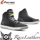 FORMA SLAM FLOW BLACK WHITE URBAN SHORT ANKLE CASUAL MOTORCYCLE MOTORBIKE BOOTS