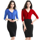 women's plus size S-4XL office ladies work wear Casual dress clothes clothing