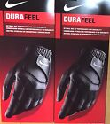 2 NEW 2017 NIKE DURAFEEL GOLF GLOVES BLACK LEFT HAND TWO GLOVE!