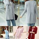Fashion Winter Womens  Loose Knitted Sweater Cardigan Blouse Casual Warm Coat