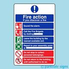 General Fire Action Sign (423)
