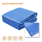 Blue Tarp Poly Canopy Tent Shelter Car Boat Outdoor Reinforced Resistant 5 mil