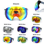 Professional Frameless Snowboard Snowmobile Ski Goggles Anti Fog UV Double Lens