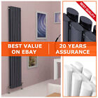 Vertical Designer Radiator Central Heating Tall Upright Double Oval Panel 1800mm