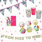 Talking Tables Fluorescent Florals Party Partyware Hen Do Baby Shower Set Lot