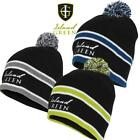 Island Green Knitted Golf  Bobble Hat, Ideal  to stay warm outdoors this winter!