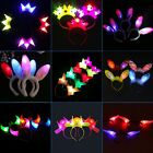 New LED Devil Horns Flashing Novelty Light-Up Headband Halloween&Christmas Party
